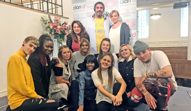 A group of Alan d hairdressing students and staff.