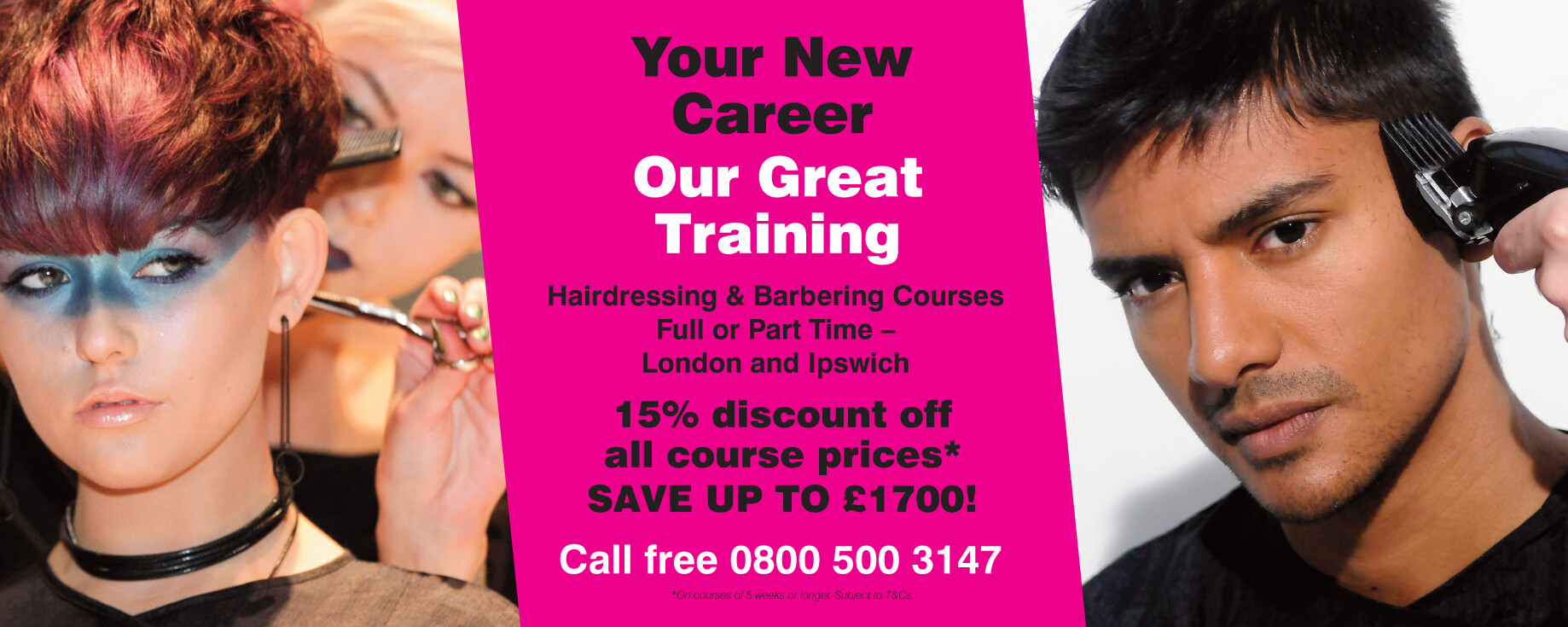 15% off all hairdressing & barbering courses